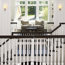 transitional staircase by Visbeen Architects