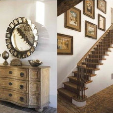 Eclectic Staircase by Lisa Friedman Design, LLC