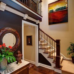 traditional staircase by Derrick Architecture