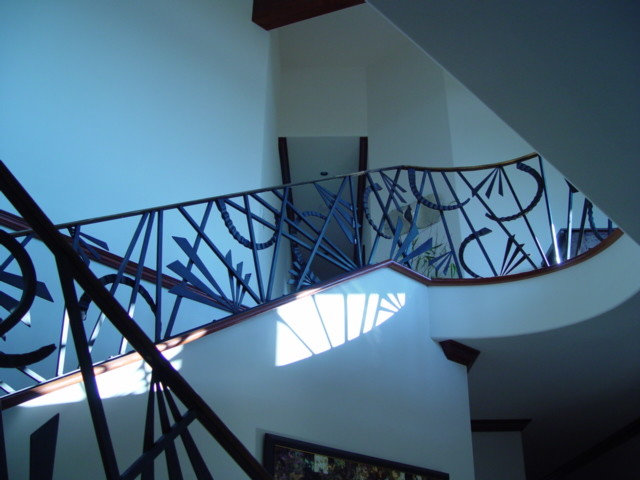 Eclectic Staircase by Howard Hvid