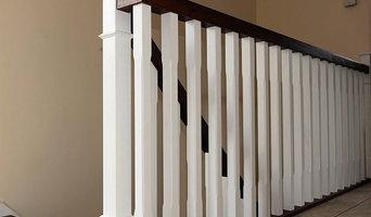 White & Dark Brown Staircase