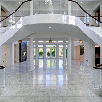 White carrrara floors/Torquay counters
