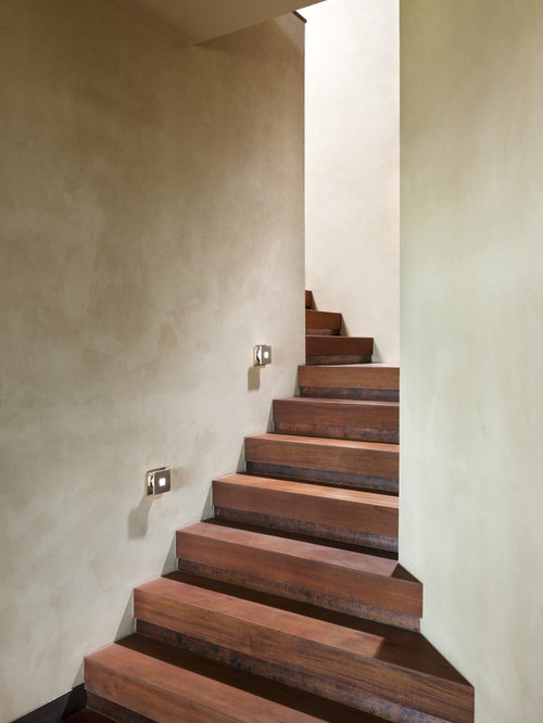 Contemporary Wooden Staircase Idea In Other