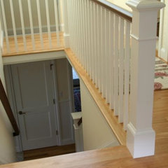 traditional staircase by @designREMODEL Baths, Kitchens & More