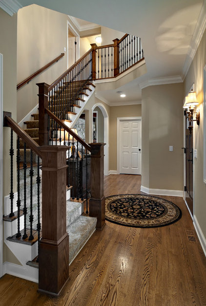 Traditional Staircase by Knight Construction Design | Chanhassen, Minnesota