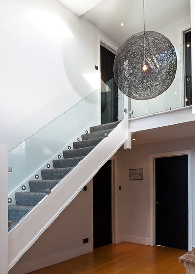 Contemporary Staircase by Boutique Homes