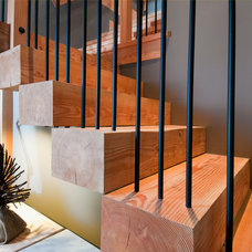 Contemporary Staircase by Leanna Rathkelly Photography