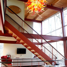 Contemporary Staircase by Duket Architects Planners
