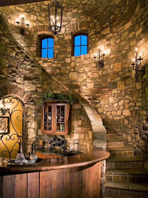 Curved Stone Wall Home Design Ideas Pictures Remodel And