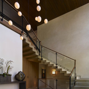 Trendy concrete staircase photo in Los Angeles with concrete risers