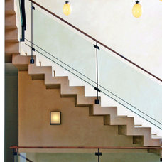 contemporary staircase by Studio William Hefner