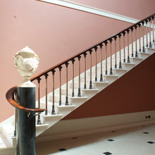 Stairs that a perfect for our traditional wall panels.