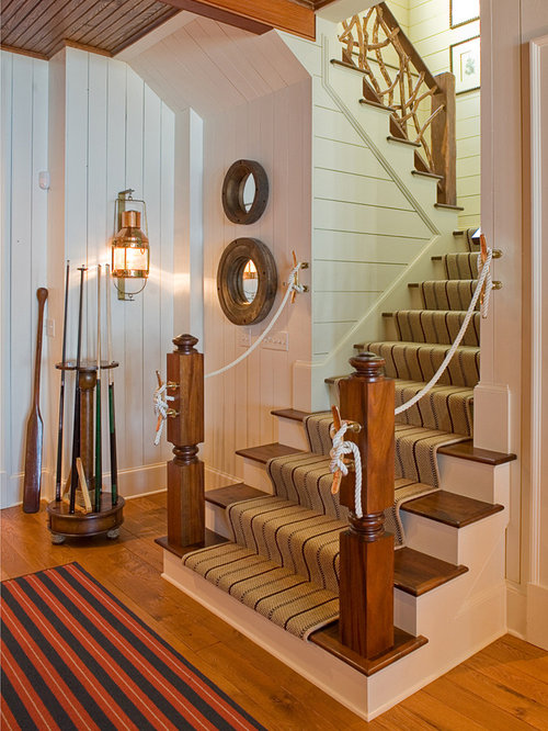 rope stair rail home design ideas pictures remodel and decor. Black Bedroom Furniture Sets. Home Design Ideas