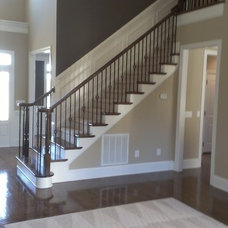 Traditional Staircase by Carolina Custom Homes and Renovations,LLC