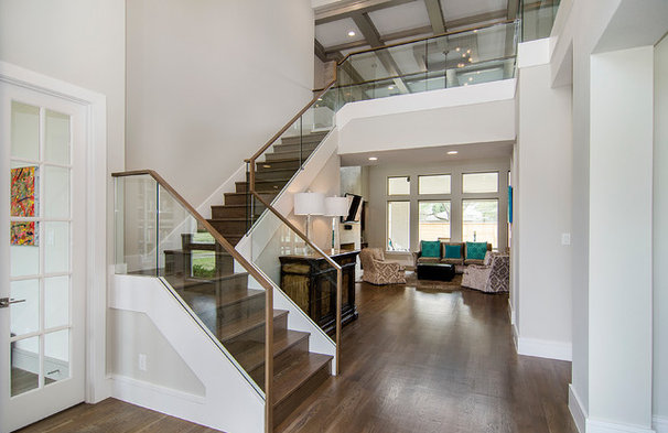 Contemporary staircase by john lively associates