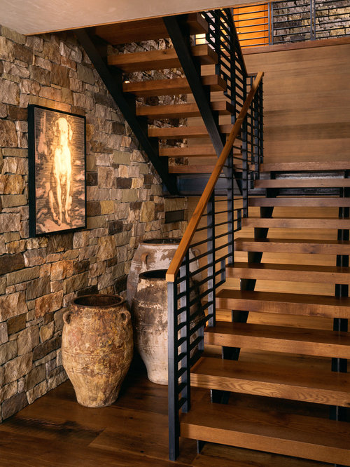 Rustic Staircase Ideas Designs amp Remodel Photos Houzz