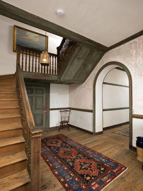 Farmhouse Beige Staircase Design Ideas Remodels Photos