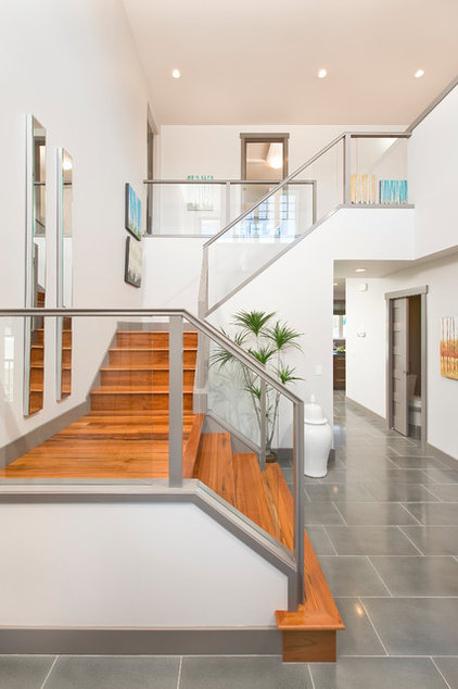 Contemporary Staircase by Homes by Avi