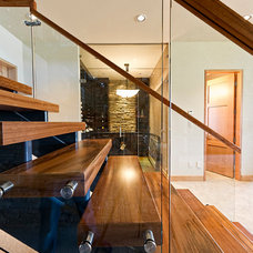 Rustic Staircase by site lines architecture inc.