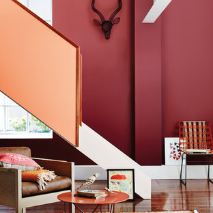 メルボルンの中サイズのコンテンポラリースタイルのおしゃれな直階段の写真