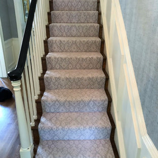 Inspiration for a french country staircase remodel in Richmond