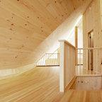 Winter Cabin Rustic Staircase Burlington By Susan