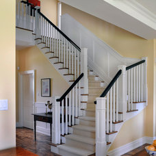 Traditional Staircase by Chuck Mills Residential Design & Development Inc.