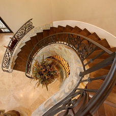 Mediterranean Staircase by Gary Keith Jackson Design Inc
