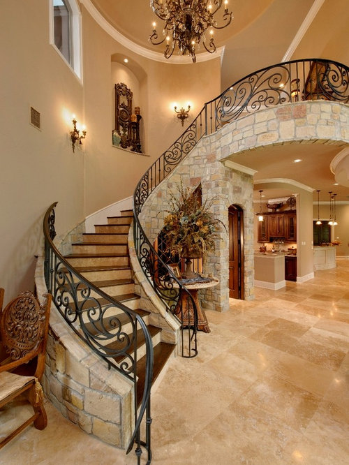 Mediterranean Staircase Design Ideas Remodels Photos