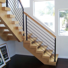 Contemporary Staircase by Skyhook Stairs and Rails