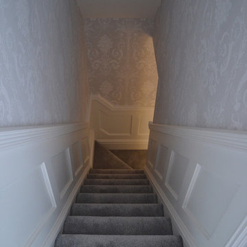 Wood paneled hallway, stairs and landing - Swinton, Manchester (2)