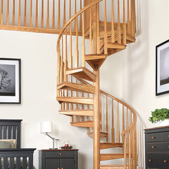 contemporary staircase Wood Spiral Stair Thumb 1