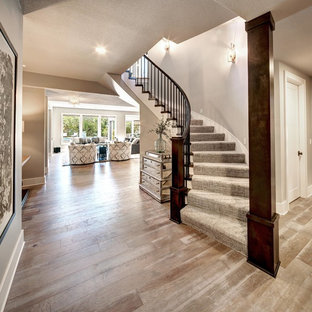 Inspiration for a timeless staircase remodel in Kansas City