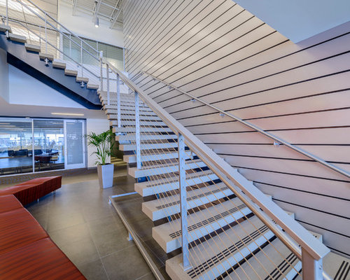 Corporate office staircase design ideas remodels photos for Houzz corporate office