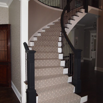Wool Wilton on curved stairs