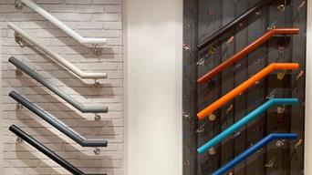 Workshop Showroom Leather Handrails
