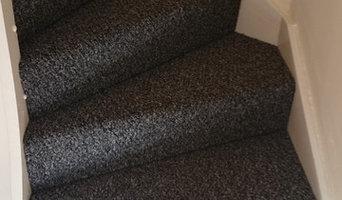 Wrap around stair carpet