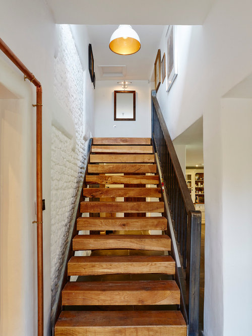 houzz wood stairs design ideas remodel pictures. Black Bedroom Furniture Sets. Home Design Ideas
