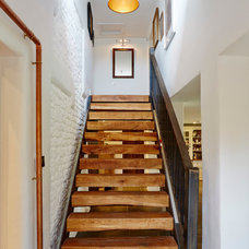 Farmhouse Staircase by Hart Design And Construction