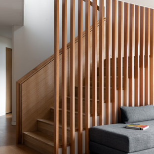 Inspiration for a 1960s staircase remodel in Portland
