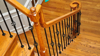 Wrought iron baluster installation