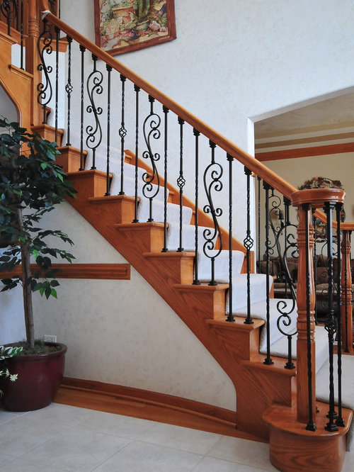 wave and knot iron balusters home design ideas
