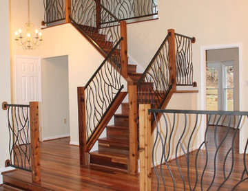 Wrought Iron Railing Artisan Bent Design