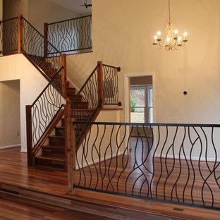 Wrought Iron Railing Artisan Bent Design