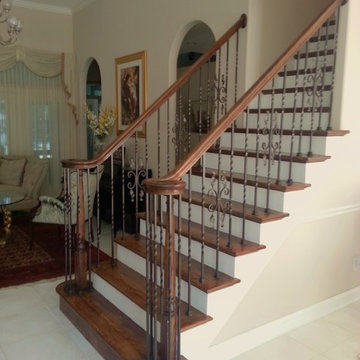 Wrought Iron Stair Remodel