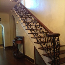 Mediterranean Staircase by Beverly Vosko Interiors and Remodeling