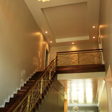 Contemporary Staircase by Tongue & Groove
