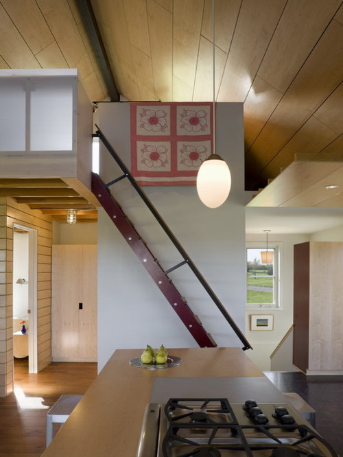 Cabin Loft Stairs Design Ideas & Remodel Pictures | Houzz