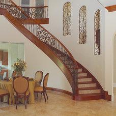 Mediterranean Staircase by Zachary Custom Homes