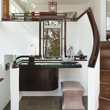 Contemporary Staircase by Jeffrey King Interiors